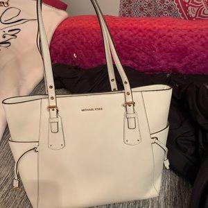 white mk purse